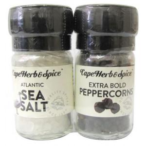 Мини мельницы соль и перец Sea Salt & Pepercorns Extra Bold Cape Herb & Spice Арт.MG01