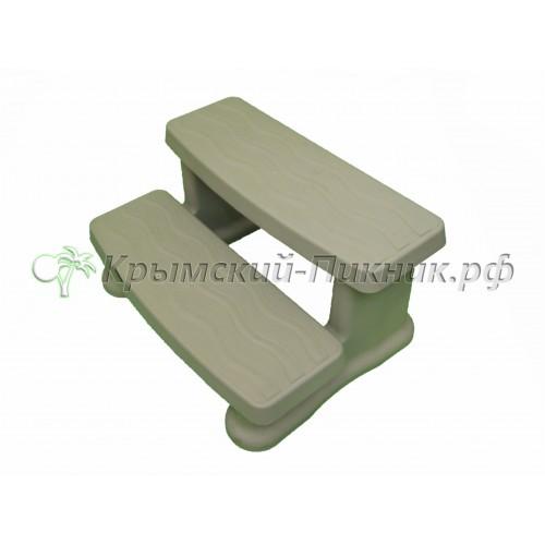 Ступени двойные виниловые grey h=410mm, l=820mm