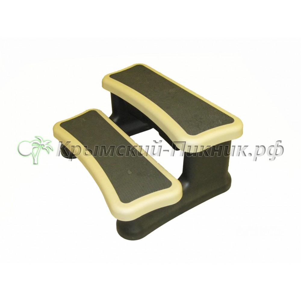 Ступени двойные с выдвижным ящиком  h=410mm l=910mm vinil sand