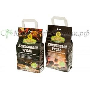 Кокосовый уголь бикеты Coco Charcoal мешок 2 кг