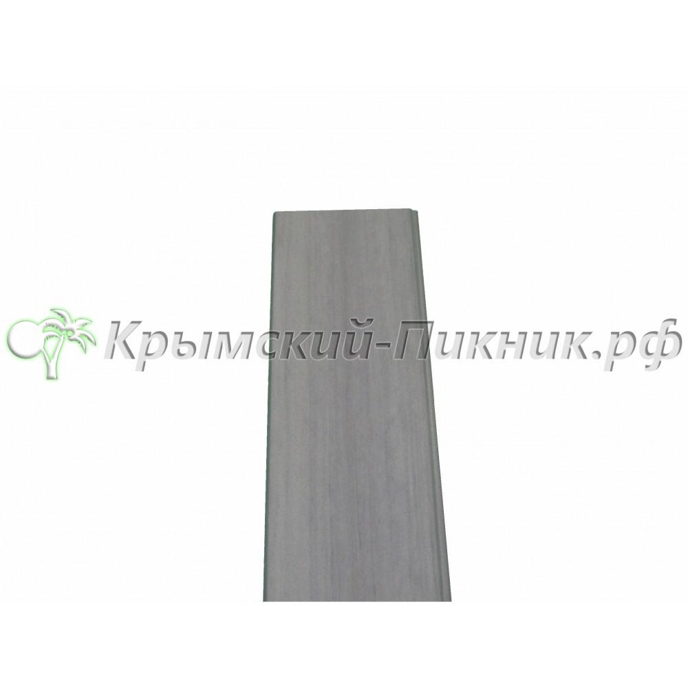 Планка боковой отделки  Grey cladding vinyl l=130mm h= 1420mm