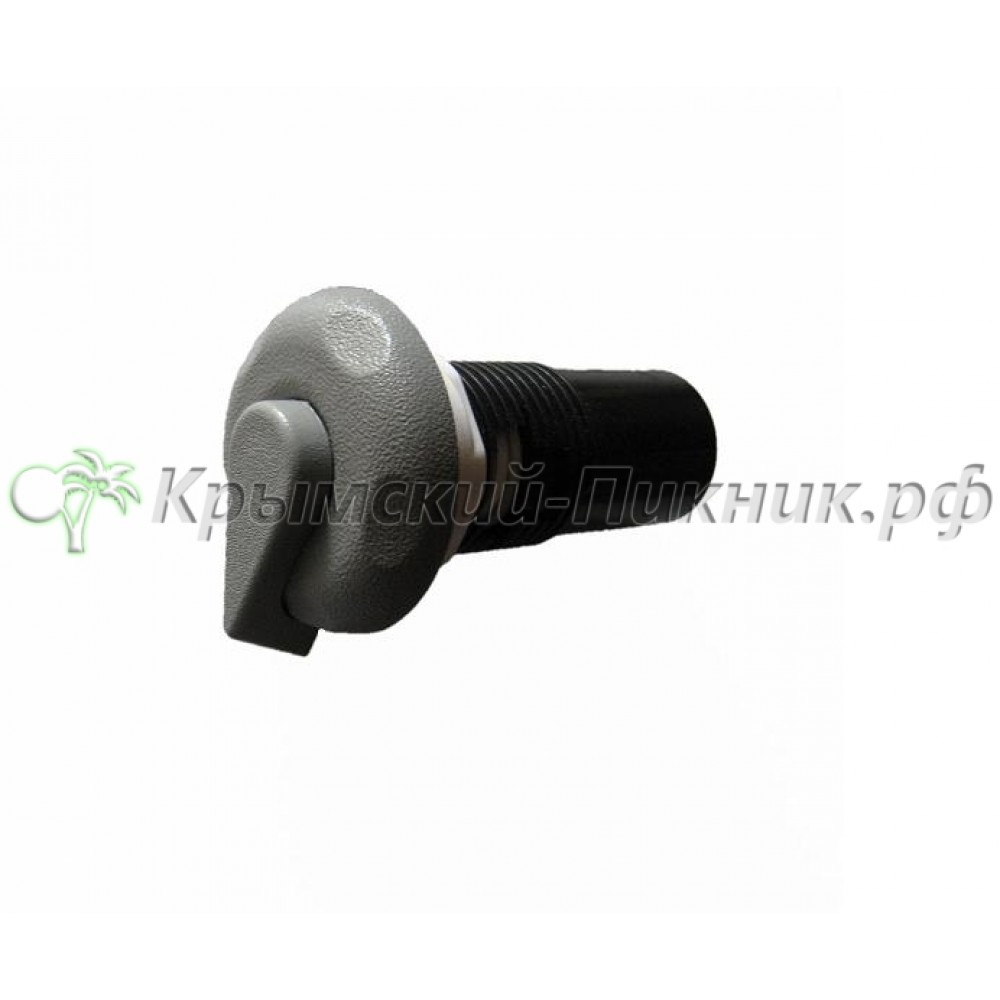 Регулятор подачи воздуха .Серый  h=110mm d=65mm
