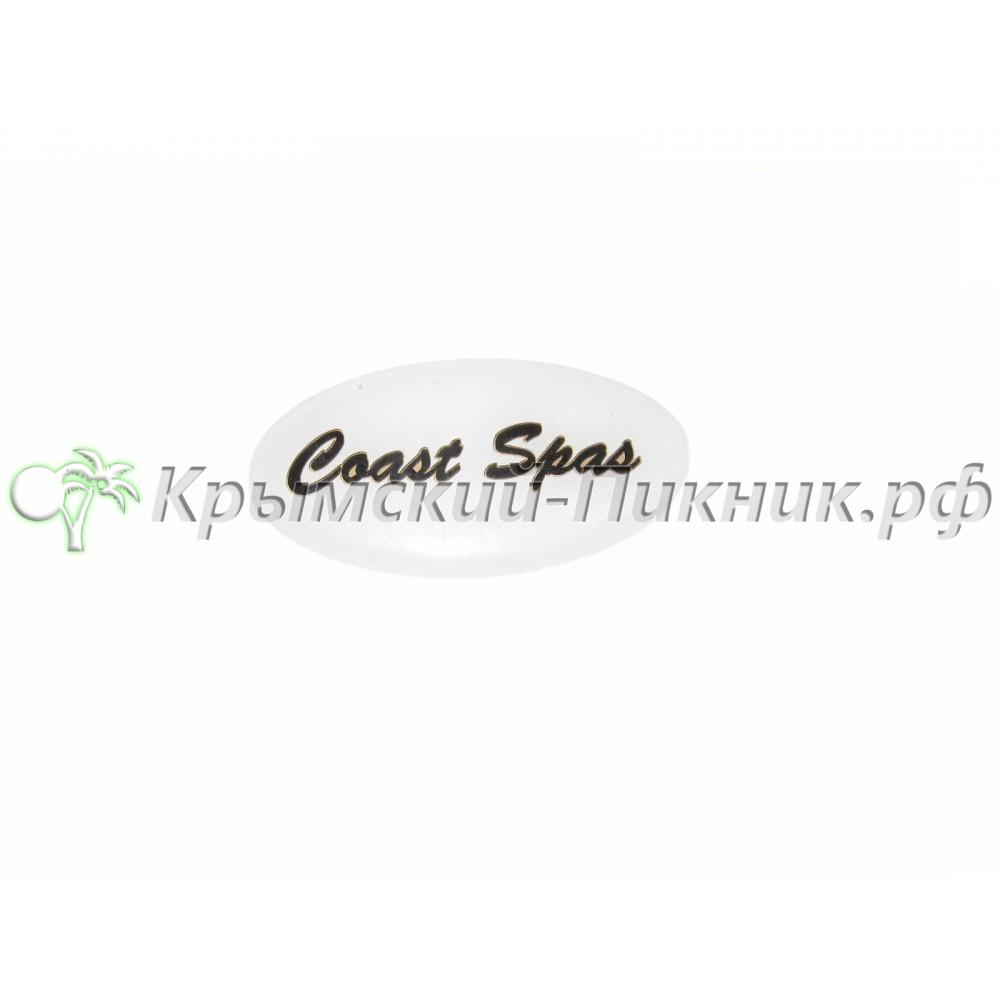 Логотип вставка для подголовника  вставка белого цвета
