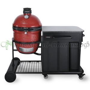Угольный гриль Kamado Joe - Classic Joe II Red™ (46 см) + Стол KJ-CART