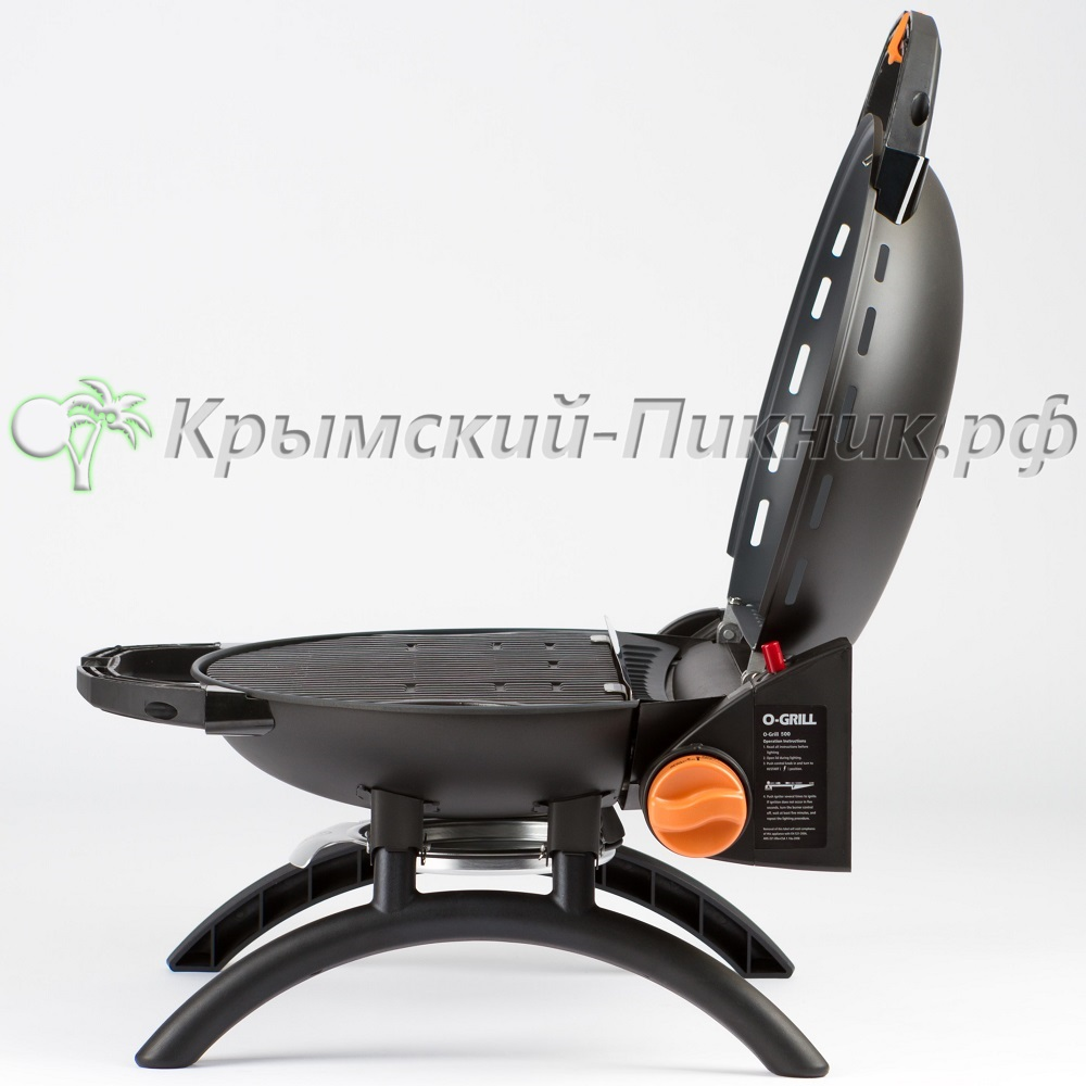 Портативный газовый гриль O-GRILL 500 black (черный)