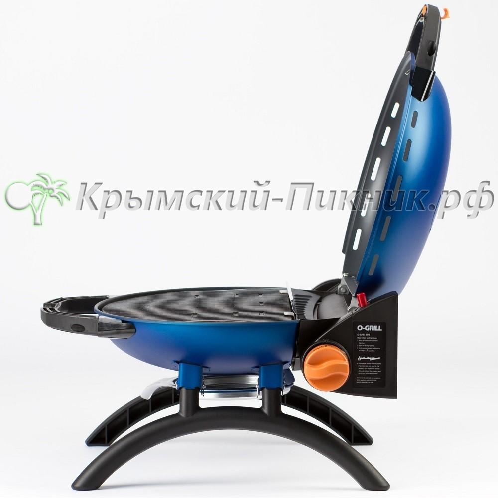 Портативный газовый гриль O-GRILL 500 blue (синий)