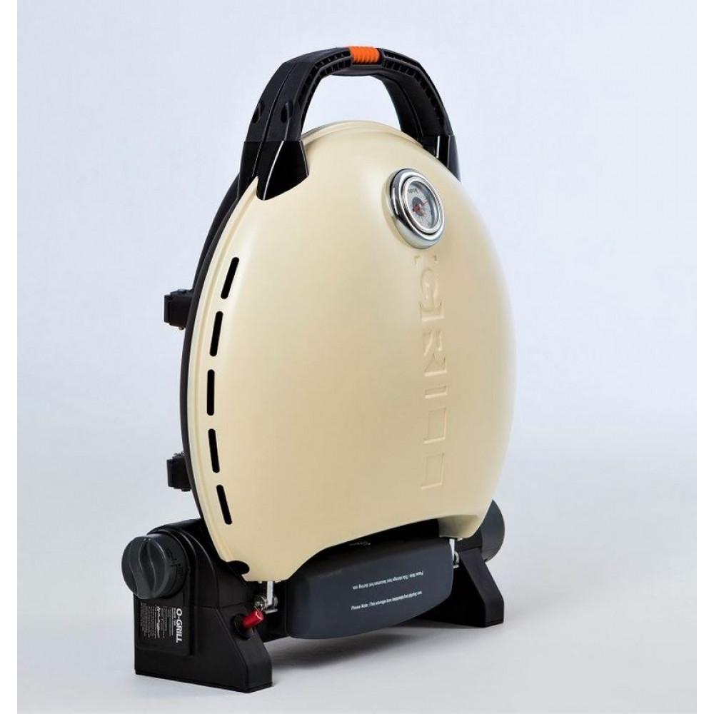 Портативный газовый гриль O-GRILL 700MT cream (кремовый)