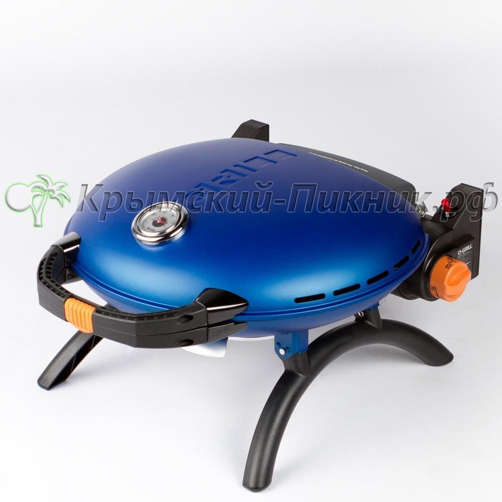 Портативный газовый гриль O-GRILL 700T blue (синий)