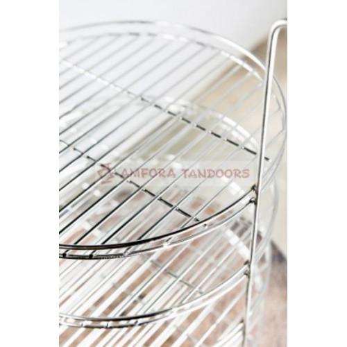 Этажерка (решетка) для тандыров 4-х ярусная большая ПРЕМИУМ D.33 cm Амфора