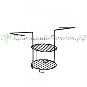 Этажерка 2-х ярусная малая  диаметр 17см Амфора