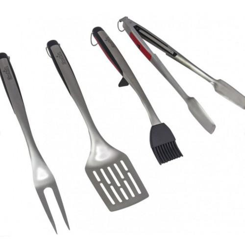 Набор инструментов 4 шт (лопатка+щипцы+кисть+вилка) Char-Broil. Арт.7710