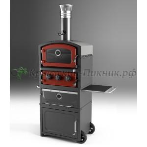 Fornetto PZ-7 Красная. Печь, гриль, коптильня.
