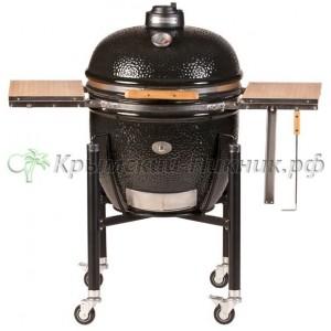 Угольный керамический гриль Monolith Le Chef Чёрный  55 см с тележкой и столиками