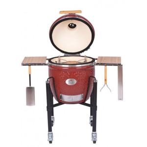 Угольный керамический гриль Monolith Classic PRO RED  46 см с тележкой и столиками