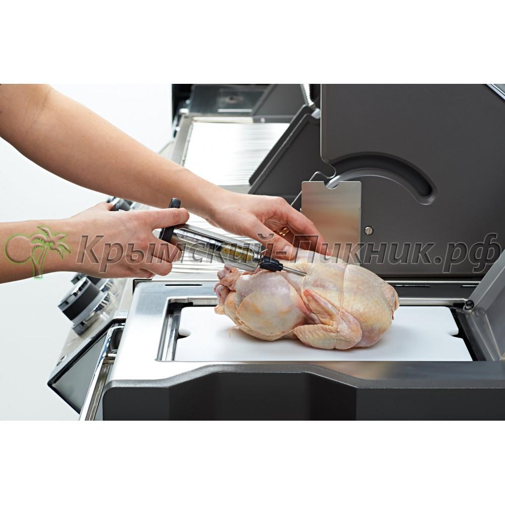 Шприц кулинарный из нержавеющей стали для ввода маринада Napoleon Арт.55028