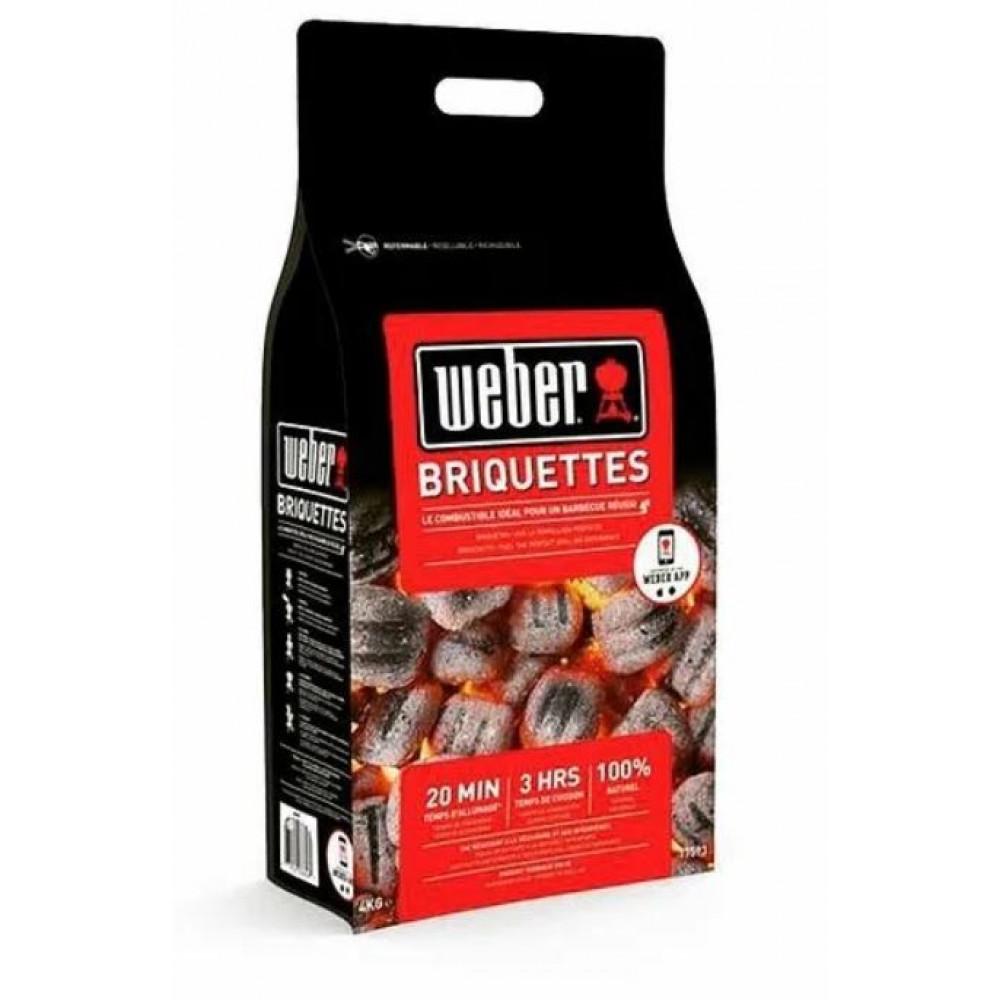 Угольные брикеты  4 кг или 8 кг Weber Арт. 17590 17591