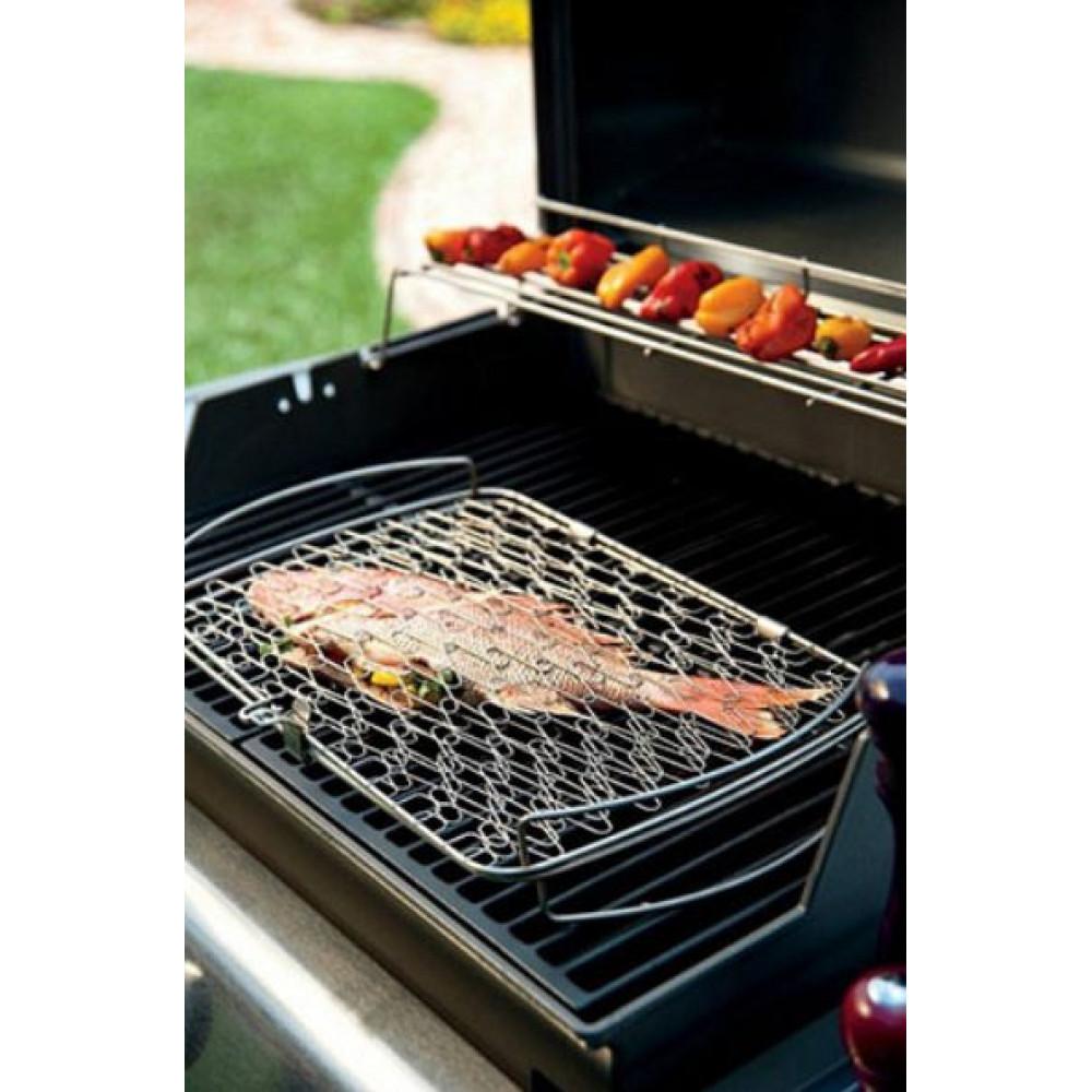 Подставка сетка большая для запекания рыбы и овощей 46х26 см Weber Арт. 6471